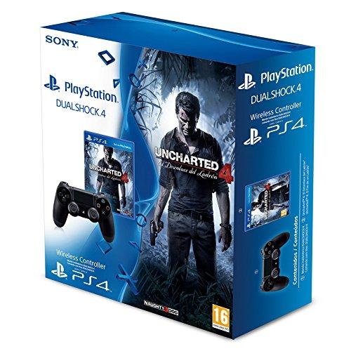 Prezzo sottocosto Sony - Mando DualShock 4 + Uncharted 4 (PS4)