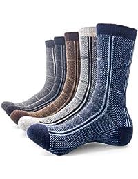 Men Wool Thick Winter Socks 5 Pairs Warm Crew Socks Assorted Colors By JIYE