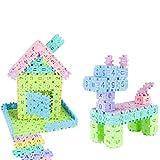 JACKY-Store Education Toys,Children Educational Toy 48 Geometry Shape Cognitive Digital Building Blocks Warm Color Intellectual Number Building Block