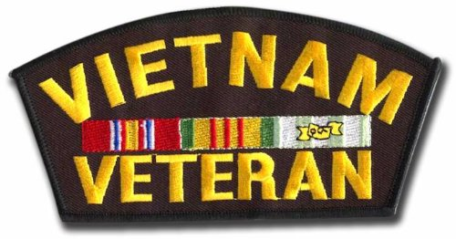 Vietnam Veteran Service Ribbons Iron On Embroidered Patch