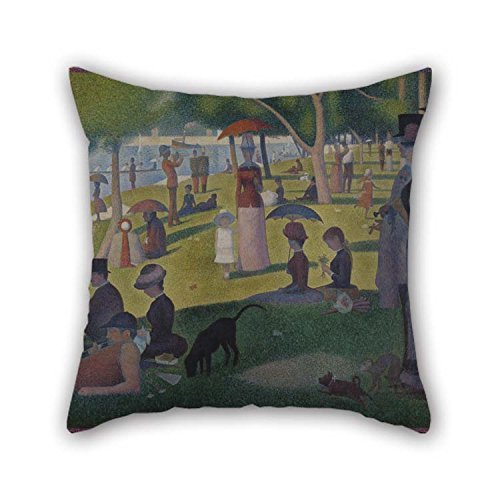Rdkekxoel The Oil Painting Georges Seurat - A Sunday On La Grande Jatte - 1884 Pillowcase of 20 X 20 Inches/Decoration Gift for Bar Seat Gril Friend Bar Valentine Pub Father
