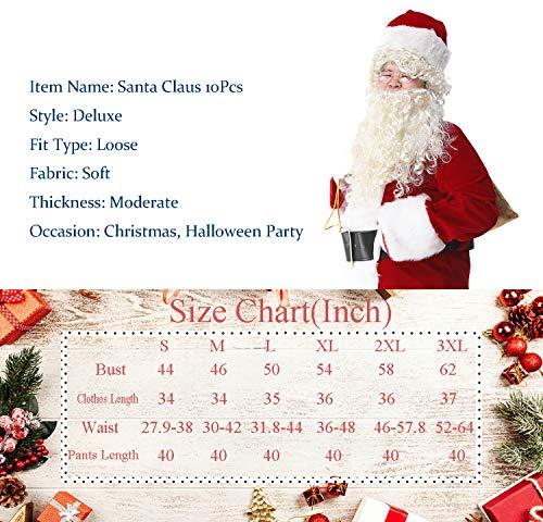 Amazon.com: Obosoyo Deluxe - Traje de Papá Noel para hombre ...