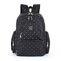 Baby Diaper Bag Smart Organizer Waterproof Travel Diaper Backpack with Changi...
