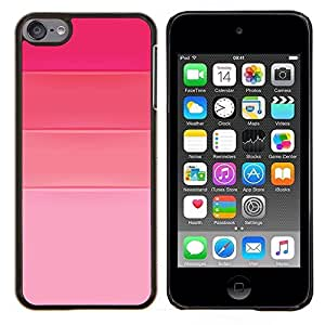 Rosa fucsia Tonos Amor Diseño de Moda- Metal de aluminio y de plástico duro Caja del teléfono - Negro - iPod Touch 6