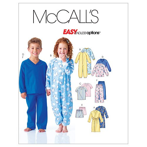 (McCall's Patterns M6224 Toddlers'/Children's Robe, Belt, Jumpsuit, Top, Shorts and Pants, Size CB (1-2-3))