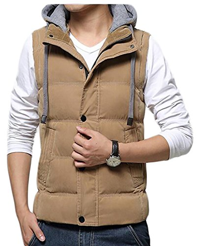 Vest Hood today Removable 1 UK Men's Jackets Zipper Winer Outerwear Sleeveless BRaqX