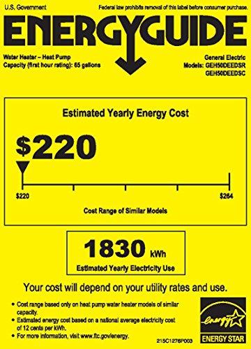 GE GEH50DEEDSR GeoSpring Hybrid Electric Water Heater - Energy Star