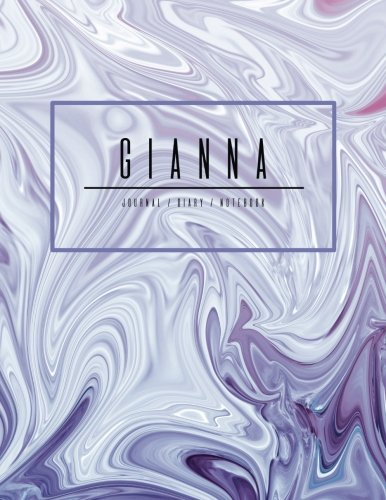 Gianna Journal Diary Notebook: Electric Violet Purple Personalized Gift With Name, Large 8.5 x 11 Minimalist Marble Cover (Gift Journal For Women And Girls) ebook