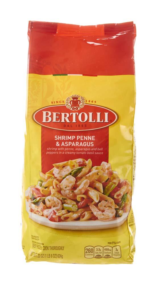 Bertolli Shrimp Penne & Asparagus Frozen Meals in a Creamy Tomato Basil Sauce, 22 oz.