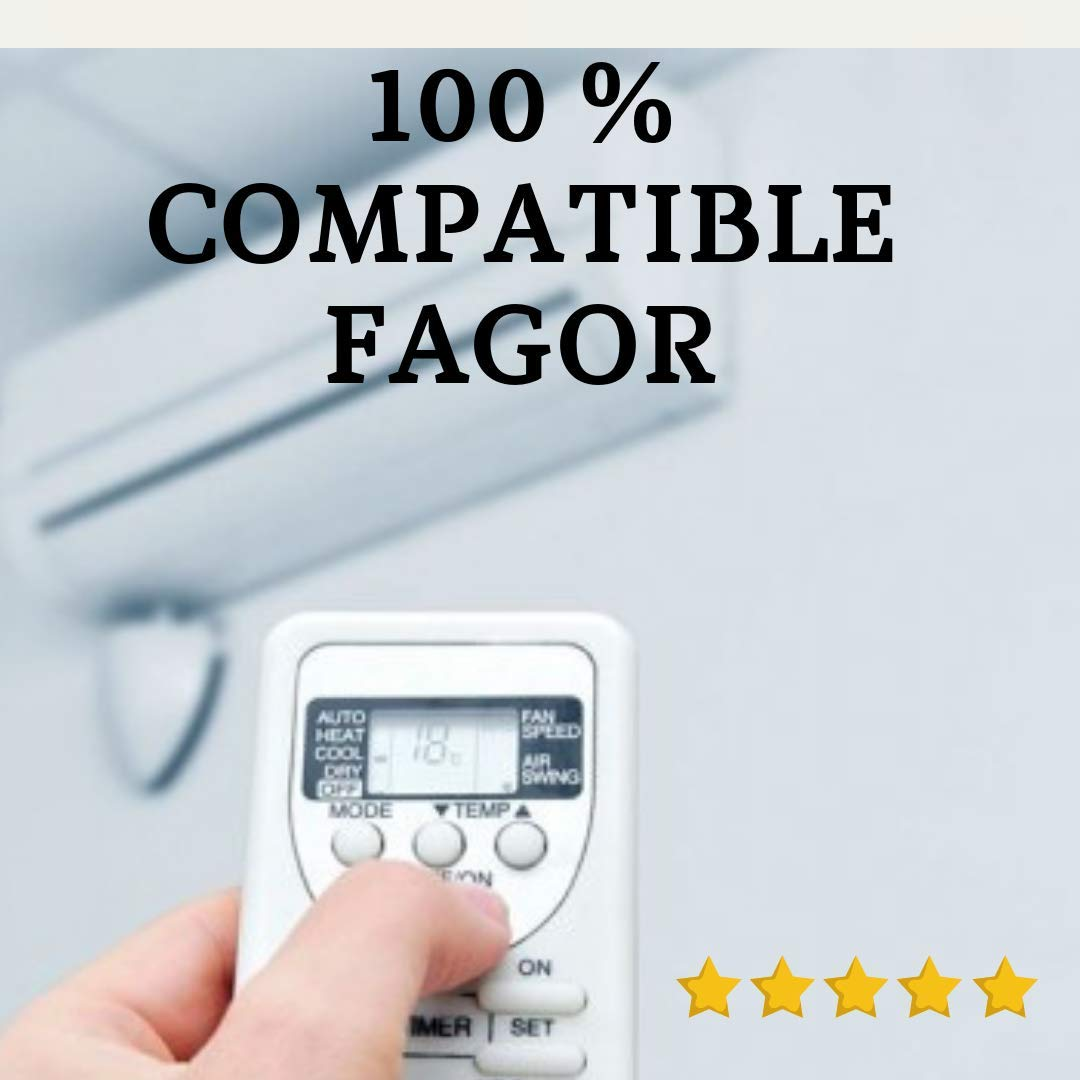 Entrega en 24-48 Horas Mando Aire Acondicionado FAGOR FAGOR MANDO COMPATIBLE. Mando a Distancia Compatible 100/% con Aire Acondicionado FAGOR FAGOR