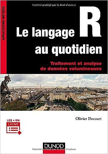 couverture du livre Le langage R au quotidien