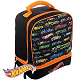Hot Wheels Matchbox Cars Kids Insulated 2-Section Padded Lunch Bag Lunchbox