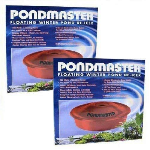 2 PACK PONDMASTER FLOATING POND DE ICER 120 WATT POND DEI-CER --W#436BRE T44/35PDS104266