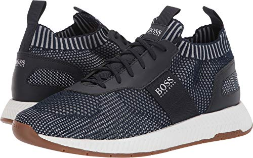 Hugo Boss BOSS Men's Titanium Sneaker by BOSS Navy 10 D US
