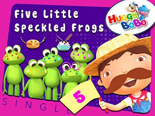 Five Little Speckled Frogs Nursery Rhymes By HuggyBoBo