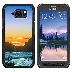 Stuss Case / Funda Carcasa protectora - Puesta del sol de la playa rocosa - Samsung Galaxy S6Active Active G890A