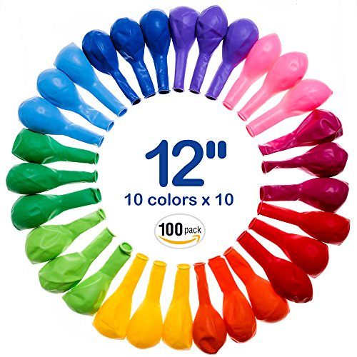 Best Balloons Assorted Color For Party 12 Inches Bulk 100 pcs Helium Quality - Yourself It Party Do Favors