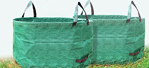 SUNWIN Lawn and Leaf Bags Garden Reusable Leaf Bag Yard Lawn Gardening Waste Bag 63 Gallons by Sunwin (Image #7)'