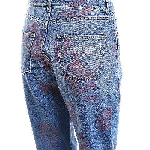 Femme Bleu Saint Laurent Jeans 506780YI8834670 Coton Tz5BxU