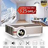 LED LCD Multimedia 4200 Lux High Definition Video Projector Full HD 1080P Wuxga Support Zoom,Keystone,Speakers,HDMI,USB,VGA,Audio,AV Home Cinema TV Projectors Outdoor Entertainment Game Console PC DVD