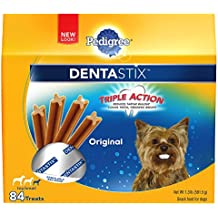 PEDIGREE DENTASTIX Original Toy/Small Treats for Dogs - Value Pack 1.3 Pounds 84 Count