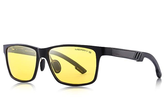 f6b9e8f140249 MERRY S - Lunettes de soleil - Homme Jaune Black Yellow  Amazon.fr ...