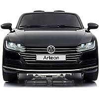 cristom Voiture électrique 12V pour Enfant - License Volkswagen Arteon - telecommande Parental (Rouge)