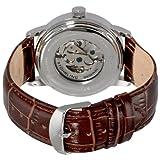 Stuhrling Original Mens 1076.3315K59 Classic Delphi Acheron Automatic Skeleton Brown Leather Strap Watch