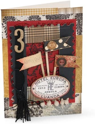 London Icons /& Union Jack Tim Holtz Alterations Texture Fades Embossing Folders
