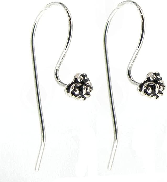supply for girls earring stud 4 PCS Long kidney Earwire 39 x 18 mm Silver plated over brass EBF0005-S