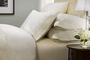 Hotel Signature Sateen Collection, 800 Thread Count 100% Cotton 6 Piece Set (Queen Size, Brillant White)