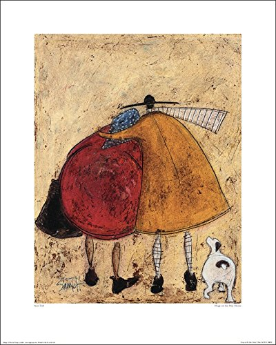 Art Group The Hugs On The Way Home Sam Toft Print, Paper, Multi-Colour, 40 x 50 x 1.3 cm The Art Group 41672