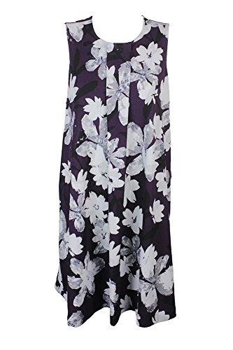 Alfani Floral Dress - Alfani Plus Size Purple Grey Floral-Print A-Line Dress W