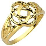 10k Yellow Gold Ladies Trinity Triquetra Ring