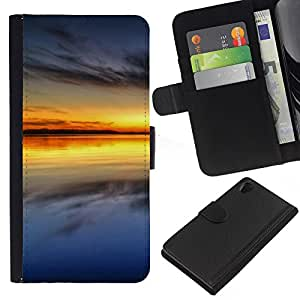 Ihec-Tech / Flip PU Cuero Cover Case para Sony Xperia Z2 D6502 D6503 D6543 L50t - Sunset Beautiful Nature 64