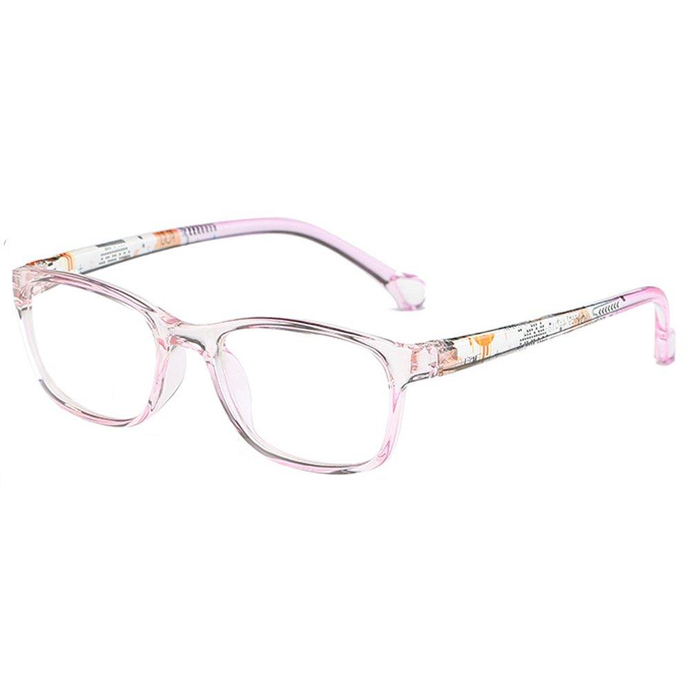 Fantia Children's Square Glasses Frame Kids Eyeglass Children Eyewear (E)