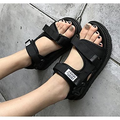 de informal confort confort tela s FlatBlackUS5 Las negro gris CN34 UK3 mujeres UE35 de 039 sandalias Verano rubí qwYXYFxzIK