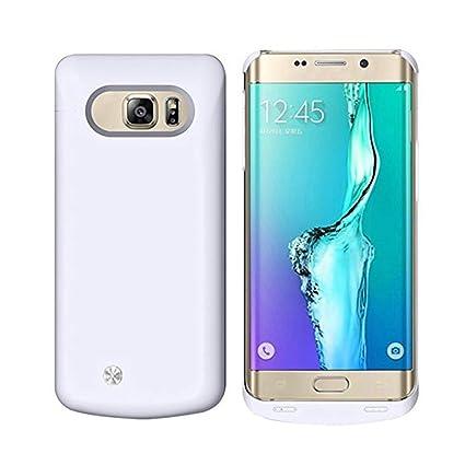 REDGO Galaxy S6 Edge Funda de batería, 4200 mAh Slim ...