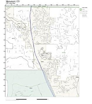 Amazon.com: ZIP Code Wall Map of Monument, CO ZIP Code Map Not ...