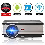 Home Theater Projector Android 3500 Lumen Support WiFi Connection 1080p Full HD, LED Projector Wireless with Speaker HDMI Cable Remote for Laptop Mac Phone iOS DVD TV Netflix Blue Ray Player