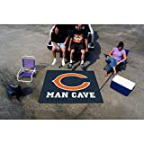 5' X 6' Blue Orange NFL Chicago Bears Floor Mat, Football Themed Rectangle Man Cave Tailgater Carpet Indoor Mat Team Logo Merchandise Fan Athletics Team Spirit Fan, Nylon