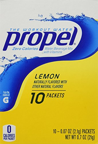 (Gatorade Propel Powder Packets - Lemon, 10-count (Pack of 6) )