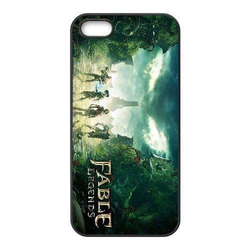 Fable Legends Art coque iPhone 4 4S cellulaire cas coque de téléphone cas téléphone cellulaire noir couvercle EEEXLKNBC24991