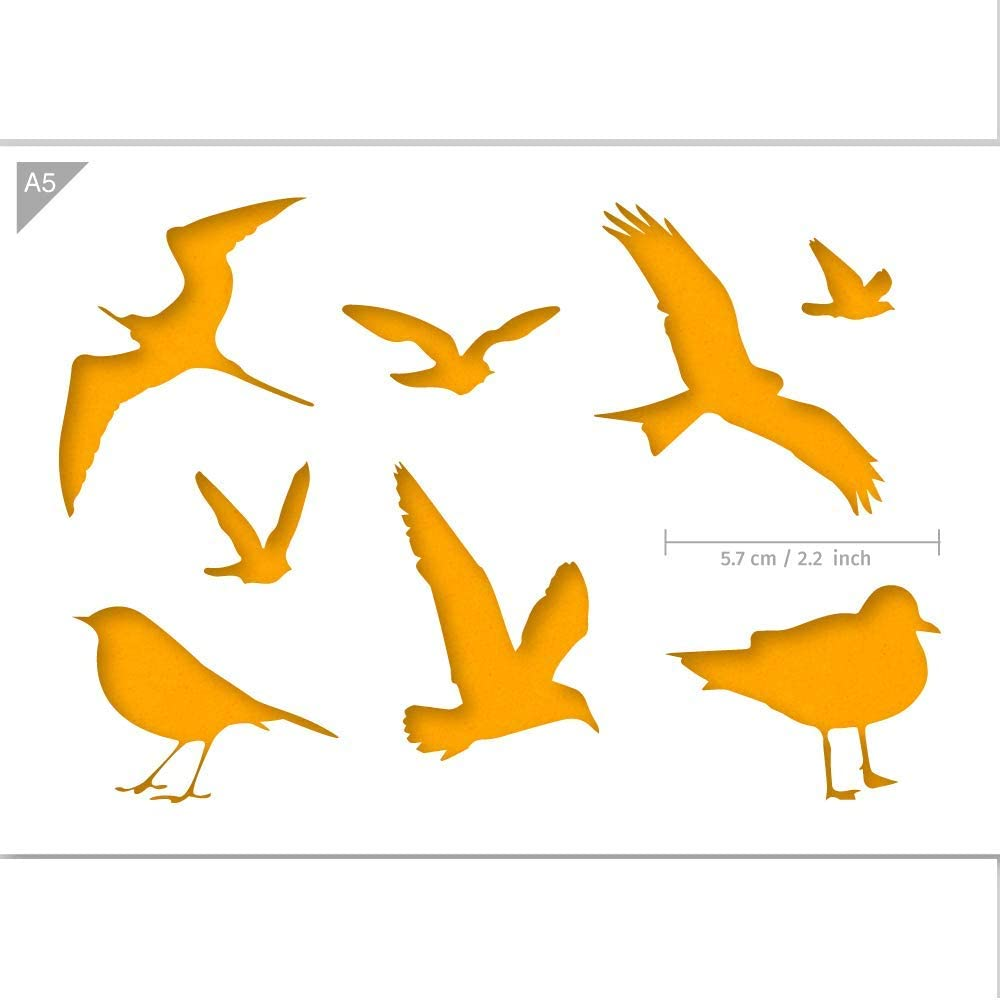 Flexible Plastic Stencil Dove Silhouette Reusable