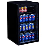 Costway 120 Can Beverage Refrigerator Portable Beer Wine Soda
