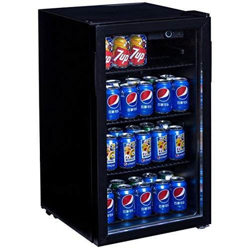 Costway 120 Can Beverage Refrigerator Portable Beer Wine Soda (Large Image)