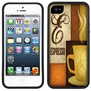 Espresso Coffee Handmade iPhone 5 Black Bumper Plastic Case