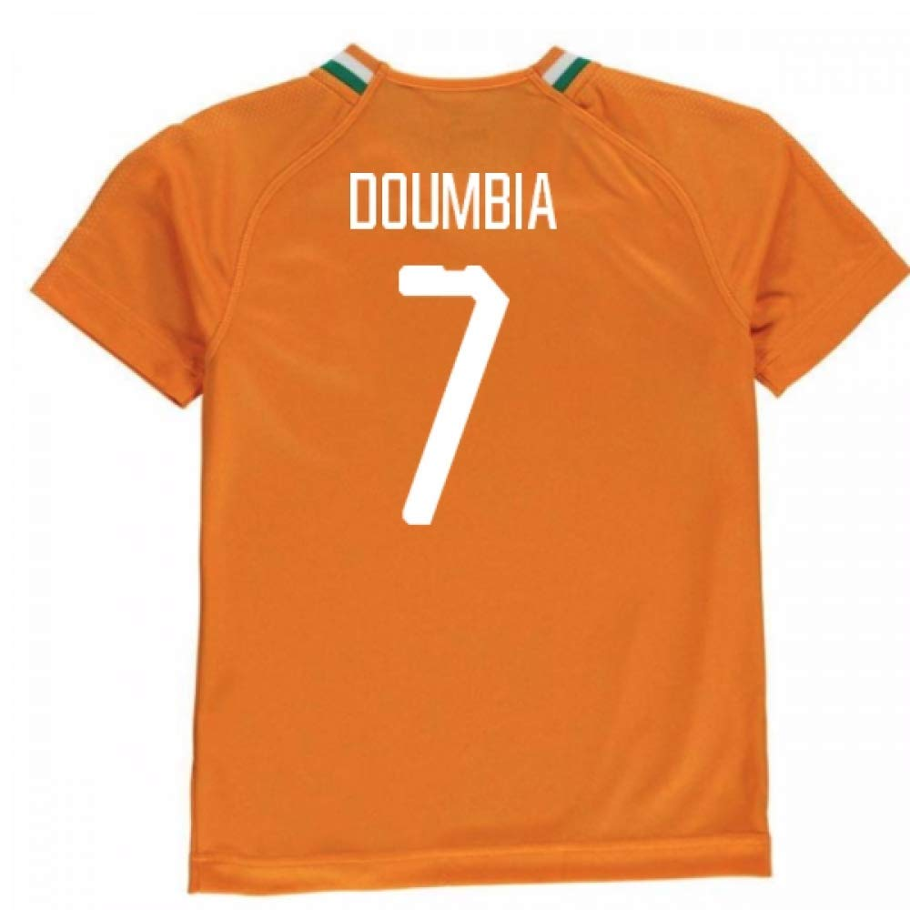 2018-19 Ivory Coast Home Football Soccer T-Shirt Trikot (Seydou Doumbia 7)
