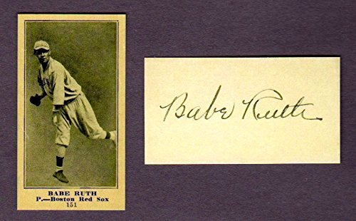 Babe Ruth 1916 Sporting News Rookie Reprint Baseball Card (w/Facsimile Signature on back of card) (New York...
