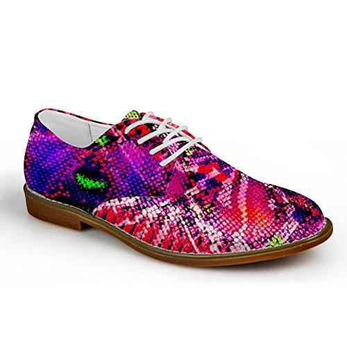 HUGS IDEA Serpentine Pattern Mens Fashion Oxford Dress Shoes Serpentine Pattern 6 YLpT1K
